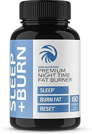 Nobi Nutrition - Quemadoras de grasa de noche que ayudan a dormir suprimiendo el apetito – Píldoras de pérdida de peso sin estimulantes nocturnas e intensificadoras del metabolismo para hombres y mujeres – Píldoras de dieta más saludables – 60 cápsulas