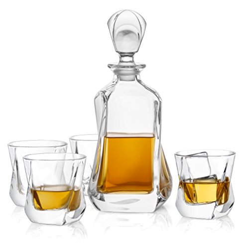 (31% OFF Deal) 5-Piece Crystal Whiskey Decanter Set $47.96