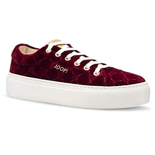 Joop new daphne sneaker lfu 2 Damen Samt Sneaker, burgund, EU 36