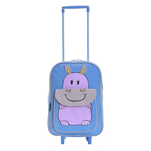 Karabar Wildlife Amigos Niños Bolsa Trolley (Hippo Azul)