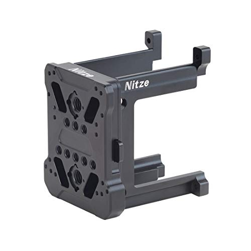 Nitze E2-FS-V3L Universal V/Gold Mount with QR Bracket Adapter(extended version) Compatible with Z Cam HDMI-SDI Converter/Z Cam E2/E2-M4/S6/F6/F8