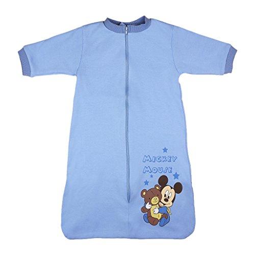 Disney Mickey Mouse Gigoteuse d'été à manches longues en coton non doublé pour bébé et enfant Taille 56, 62, 68, 74, 80, 92, 98, 104 - Multicolore - Taille Unique