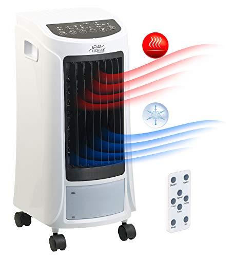 Sichler Haushaltsgeräte Luftkühler: 4in1-Klimagerät zum Kühlen und Heizen, mit Ionisator-Funktion, 1.800 W (Klimaanlage mobil)