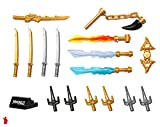 LEGO NinjaGo Weapons Accessory Pack with Display Stand - for All Minifigures
