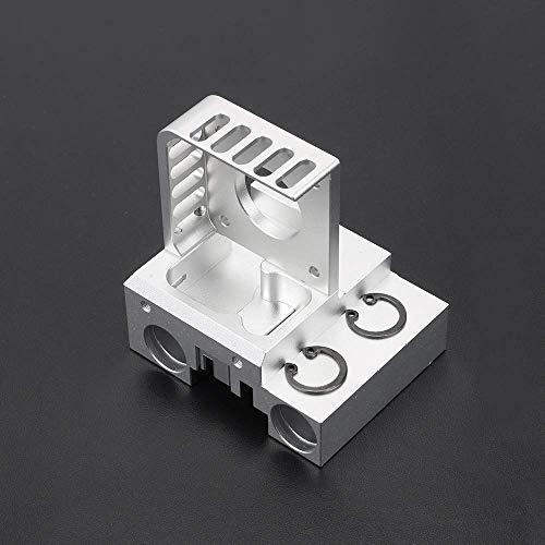 【nuovo di zecca】 Kit carrello albero X in lega di alluminio Silver Nema 17 Supporto motore + X Slider + Clip da cintura per Prusa I3 MK2 Titan Aero Extruder Accessori per stampante