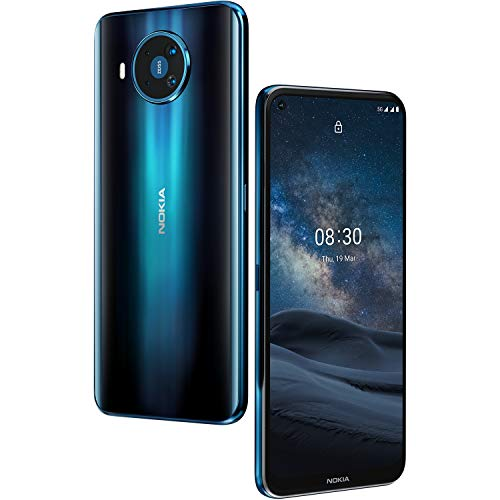 "Nokia 8.3 5G – Vierfach-Kamera mit ZEISS-Optik - 6,81"" Display – 5G-Konnektivität – Android One – Qualcomm Snapdragon – Dual-SIM - Polar Night - Deutsche Version"