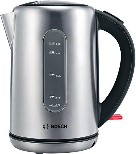 Bosch TWK7901GB City Cordless Kettle, 1.7 Litre, 3000 W - Silver