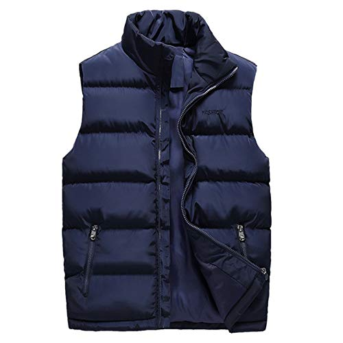 Metermall Fashion For Men Warm Sleeveless Cotton Jacket Fashionable Gilet Winter Thickened Sleeveless Coat