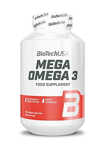 2 x Biotech USA Mega Omega 3, 180 Kapseln (2er Pack)