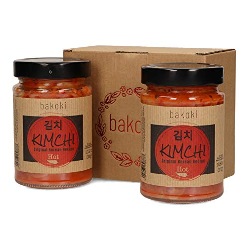 Bakoki® Premium KIMCHI Hot, Receta Coreana Original, sabor fuerte (2 x 300g)