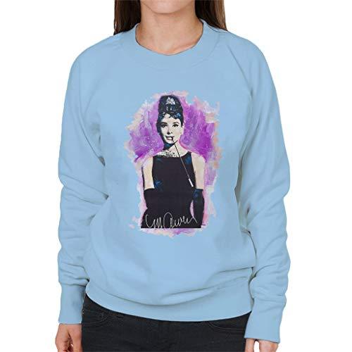 VINTRO Audrey Hepburn Sweatshirt voor dames, origineel portret van Sidney Maurer