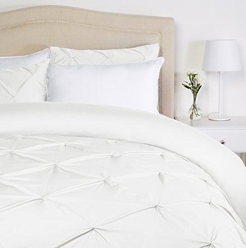 Pinzon - Bettwäsche-Set mit Quetschfalten, 200 x 200 cm - Weiß