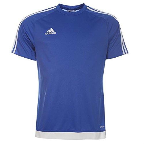 adidas Heren 3 Stripe Estro T Shirt korte mouwen Tee Top Climalite