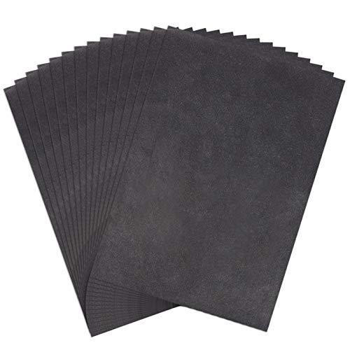Gitua 50 Blatt Kohlepapier, 23x33CM Schwarz Pauspapier DIY Handwerk Transferpapier für Holz Papier Segeltuch Glas Keramik und Andere Oberflächen