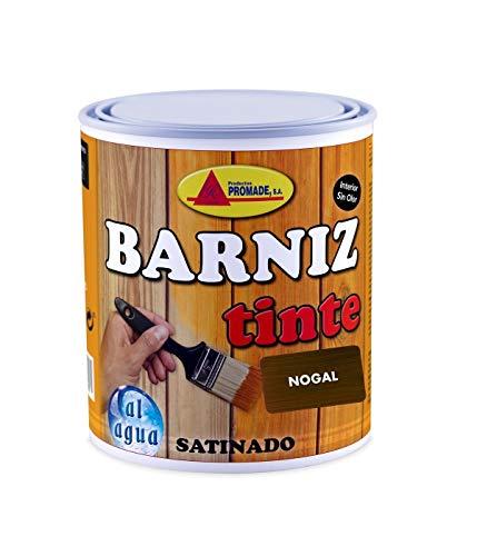 Promade - Barniz Tinte Satinado al Agua – Barniza, Decora y Protege Maderas de Interior -750 ml (Nogal)
