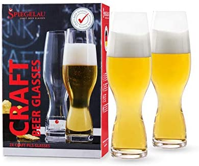 Spiegelau 4991693 Craft Beer Tasting Kit, Different Glasses: IPA, Stout and Wheat Beer, Crystal, 540/600/750 ml, Pack of 3