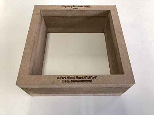 2-Part Foundry Wood Flask Mold for Sand Casting Jewelry Or Craft Making Tool 8'x8'x4'