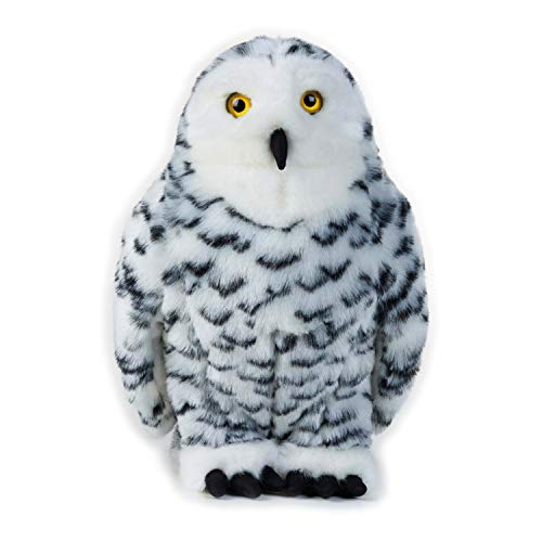 National Geographic Plush Snowy Owl Stuffed Animal Plush Toy Medium