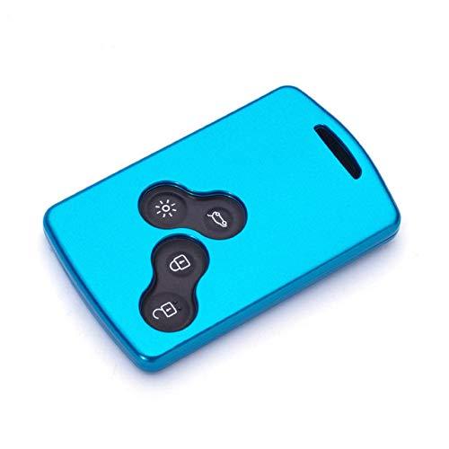 SJIUH Schlüsselhülle,ABS Auto Smart Key Case Abdeckung für Renault Megane 2 3 Clio 4 Trafic Staubtuch Captur Logan Koleos Laguna 2 3 Protector Zubehör, A, blau