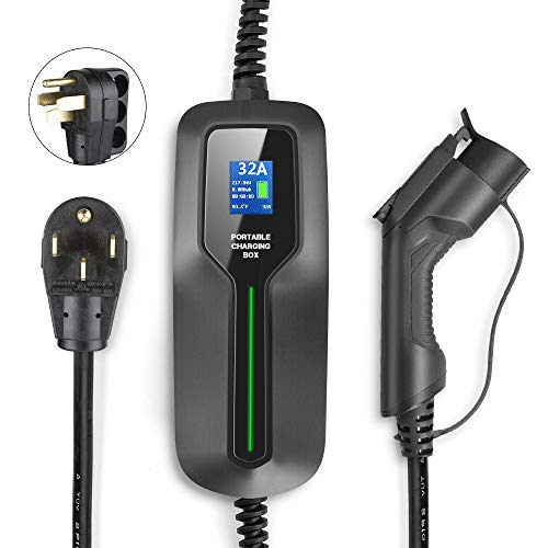 BESENERGY 32 Amp EV Charger Level 2, NEMA14-50 220V-240V Upgraded Portable EV Charging Cable Station, Electric Vehicle Charger Compatible with All J1772 EV Cars