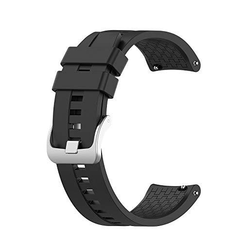 LAAGFC 22 mm Banda de Correas de muñeca para Huawei Watch GT GT2 42mm 46mm SmartWatch Strap Bands Sport Belt Pulsera (Band Color : Black, Band Width : For Huawei GT)