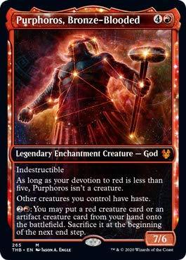 Magic: The Gathering - Purphoros, Bronze-Blooded - Showcase - Theros Beyond Death