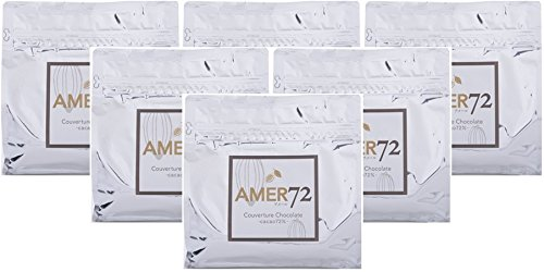 AMER72 Couverture Chocolate (アメール72 クーベルチュールチョコレート) カカオ分72% 6kg(1kg×6袋)