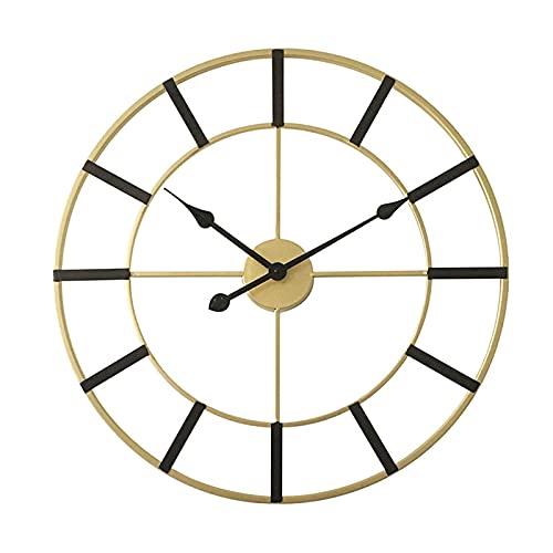 Yiheng Reloj De Pared Retro Silencioso Relojes De Pared Sin Tictac Simple Creativo Redondo Reloj Redondo para Sala De Estar Decoración Decoración Cocina Oficina Patio Dormitorio Sala