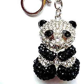 swarovski panda keychain