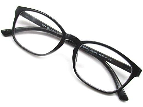 ウェリントン 老眼鏡 リーディンググラス シニアグラス 軽量 超弾性素材 TR90 ブラック (+3.50)