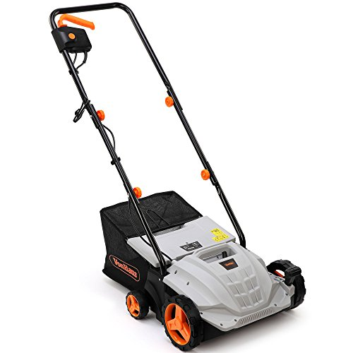 VonHaus 2 in 1 Lawn Scarifier   1500W Electric Garden Lawn Rake & Aerator   Interchangeable Rollers   4 Working Depths, 32cm Width, 4 Height Settings, 28L Collection Box, 10m Power Cable, Safety Switch