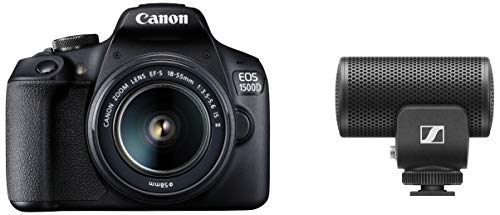 Canon EOS 1500D 24.1 Digital SLR Camera (Black) with Ef S18-55 is Ii Lens + Sennheiser Pro...