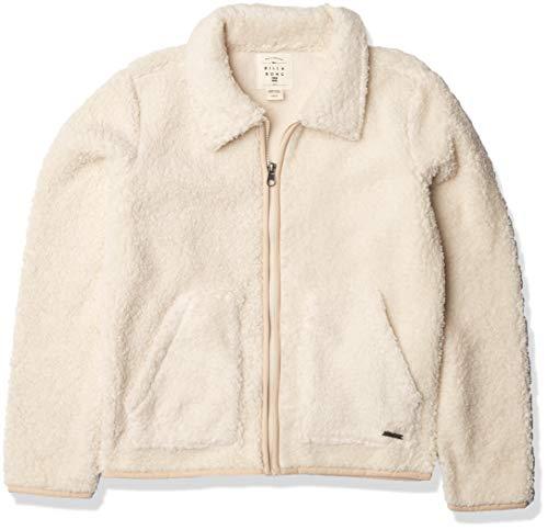 BILLABONG Mädchen Warm and Cozy Hemd, weiße Kappe, Medium