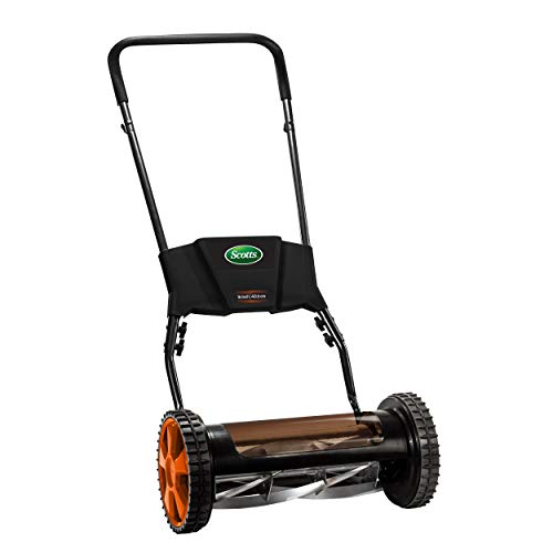 Scotts 615-16S 16-Inch 5-Blade Premium Push Manual Reel Lawn Mower, Green