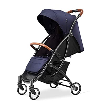 Kerrogee Lightweight Baby Stroller, Foldable Pram with Oversize Canopy, Adjustable Seat and Shock Absorbing Frame, Suit for Both Daily Life ? Travel