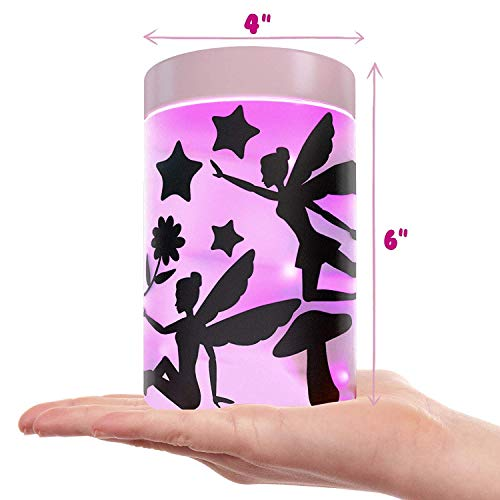 Fairy Garden Kits for Girls - Kids Night Light Lantern Jar - DIY Cra   ft Toys for Ages 4-8