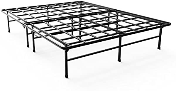 Zinus Demetric 14 Inch Elite SmartBase Mattress Foundation For Big And Tall Extra Strong Support Platform Bed Frame Box Spring Replacement Sturdy Quiet Noise Free Non Slip King