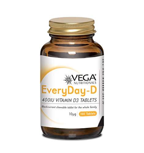 Vega Vitamins Everyday-D 400Iu Vitamin D3 Chewable Tablets, 100-Count