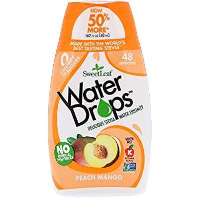 SweetLeaf Peach Mango Water Drops (Pack of 2) with Real Organic Stevia Leaf Extract and Natural Flavor, 1.62 fl. oz. from