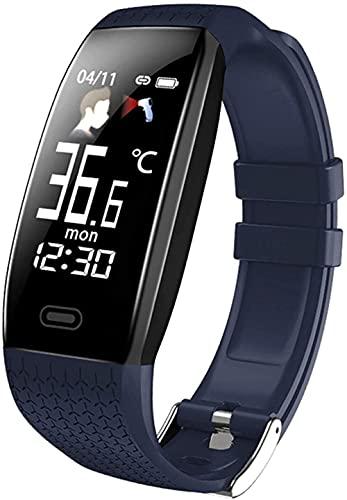 Reloj inteligente T5 temperatura corporal impermeable Fitness pulsera recordatorio llamada ejercicio modo inteligente reloj deportivo hombres y mujeres-B