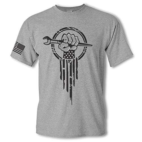 Ironworker Superhero Ironworking Spud Wrench Hand Short Sleeve T-Shirt