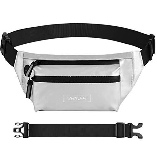 VBIGER Riñoneras Bolsillo de Cintura Impermeable Casual Cepillo Antirrobo con Orificio para Auriculares Hombres y Mujeres Correr Aire Libre