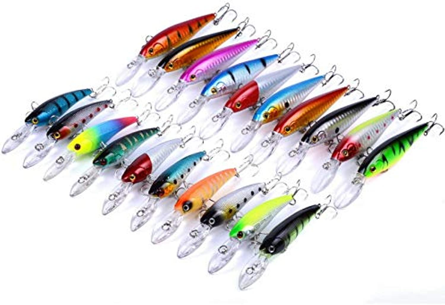 Generic 20pcs Set 8.3g 10.5g Fishing Lures Minnow Crankbait Popper Hardbait Minnow Leurre Dur Fishing Lure Set Leurre Isca Crankbait