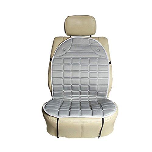 WINOMO Coussin de siège Chauffant Auto Universel Housse de siège chaud Avant de voiture(gris)