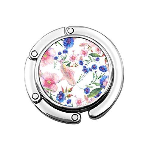 Colgador de Gancho de Flor Elegante de Flora Hermosa para Mesa Colgador de Monedero Decorativo Diseños únicos Almacenamiento de sección Plegable