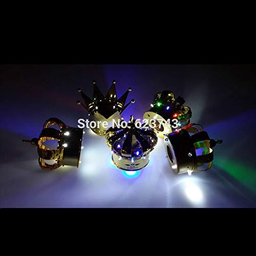 Die zweite farbig leuchtende Champagner-Kaltflammen-Feuerwerkskrone ersetzt das Leuchtkronen-Scheinwerfer-Weingestell