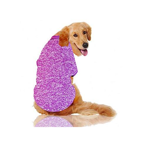 Big Dog Ropa de Gran tamaño de la Capa para Perros Mascotas de Vestuario, púrpura, 4XL Ropa del Perro casero