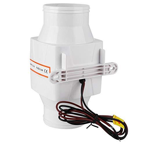 Soplador de aire de sentina marina, 3 pulgadas Soplador de aire de sentina marina en línea Ventilador de ventilación fuerte mudo para Yacht Boat RV(12V)