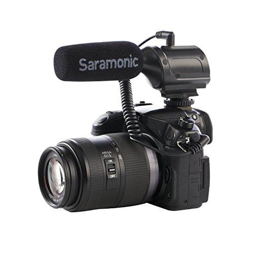 Saramonic SR-PMIC1 Microfono video con microfono a condensatore super-cardioide super-cardio compatibile con fotocamera Canon Nikon Sony, videocamere