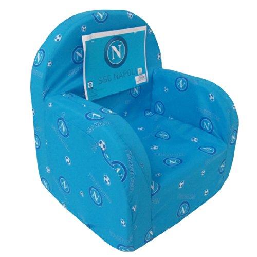 Poltrona sedia poltroncina bambino SSC NAPOLI prodotto ufficiale H902